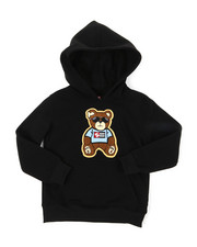 Hoodies - Pullover Fleece Hoodie W/ Chenille Patch (4-7)-2393090