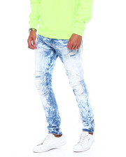 Stylist Picks - SLIM TAPERED DISTRESSED JEAN HEATHER BLUE RINSE-2394975