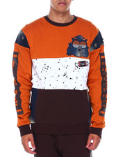 Southpole - COLOR BLOCK  W DENIM CREWNECK SWEATSHIRT-2394297