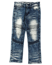 Arcade Styles - Heavy Blasted Stretch Denim Moto Jeans (4-7)-2395185
