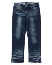 Arcade Styles - Stretch Denim Moto Jeans W/Embossed Gel Injection (4-7)-2395139