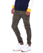 Buyers Picks - Garment Dye Stretch Jean with Rips-2394152