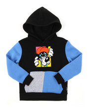 Hoodies - Pullover Fleece Hoodie W/ Chenille Patch (4-7)-2393833