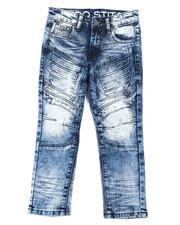Arcade Styles - Stretch Denim Moto Jeans W/Embossed Gel Injection (4-7)-2395254