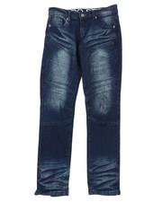 Arcade Styles - Stretch Denim Moto Jeans W/Embossed Gel Injection (8-18)-2395156