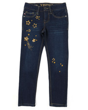 Girls - Ankle Jeans W/ Celestial Sequin Details (7-16)-2393963