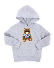 Hoodies - Pullover Fleece Hoodie W/ Chenille Patch (4-7)-2393843