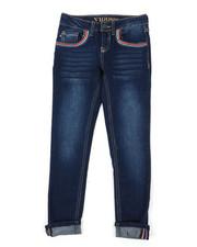 Girls - Ankle Jeans W/ Deco Stitch Details (7-16)-2393173
