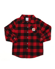 Button-downs - Long Sleeve Flannel Shirt (4-7)-2393898