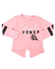 Sizes 2T-4T - Toddler - Split Back Varsity Sequin Graphic Top (2T-4T)-2394445
