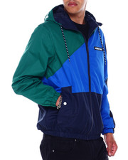 Athleisure for Men - COLORBLOCK ZIP UP NYLON JACKET W HOOD-2395163