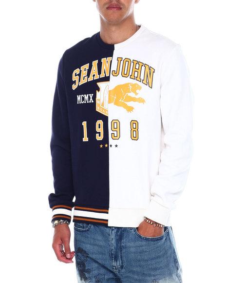 Sean John - Varsity split crewneck Sweatshirt