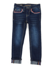 Bottoms - Ankle Jeans W/ Deco Stitch Details (4-6X)-2393159