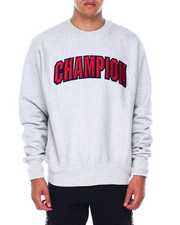 Champion - BLOCK ARCH REVERSE WEAVE CREW SWEATSHIRT-2393975