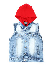Southpole - Hooded Denim Vest (8-20)-2393838