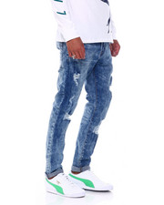 Jeans - LT INDIGO DISTRESSED STRETCH JEAN-2393206