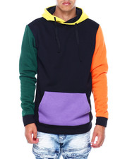 American Stitch - Colorblock Hoodie-Orange-2394646