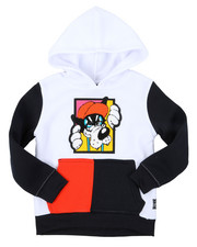 Hoodies - Pullover Fleece Hoodie W/ Chenille Patch (4-7)-2393100