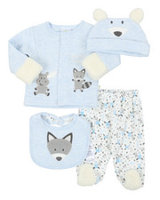 Duck Duck Goose - 4 Piece Quilted Jacket Set (Infant)-2393649