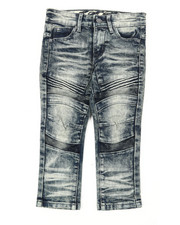 Bottoms - Heavy Blasted Stretch Denim Moto Jeans (2T-4T)-2395282