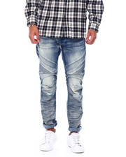SMOKE RISE - Seamed Moto Slim Fit Jean-2394893