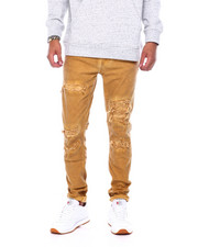 Jeans - Garment Dye Stretch Jean with Rips-2394249
