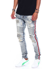 Preme - Athletic Stripe  Stretch Moto Jean-2394400
