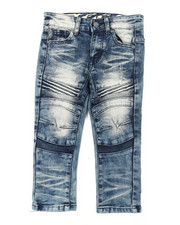 Bottoms - Heavy Blasted Stretch Denim Moto Jeans (2T-4T)-2395286