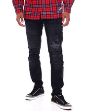 Crysp - Skywalker Moto Jean in Rinsed Black-2395333