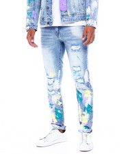 SMOKE RISE - Paint splatter Jean -Lavender-2395882