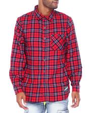 Mens-Fall - Plaid Woven Shirt-2395654