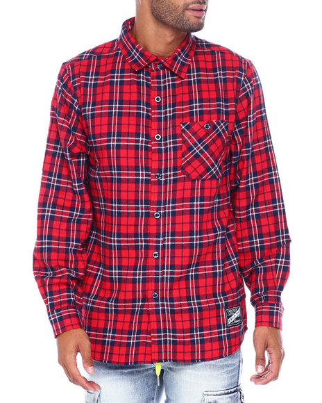 SMOKE RISE - Plaid Woven Shirt