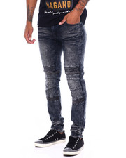 Jeans - Blasted Moto Jean W Cut and Sew Detail-2395694