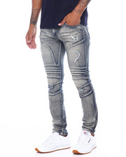 Jeans - Stretch Distressed Moto Jean-2395710