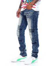 Jeans - Blasted Moto Jean W Cut and Sew Detail-2395732