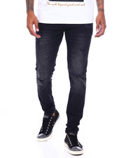 Jeans - BLACK SKINNY FIT STRETCH DISTRESSED JEAN-2395850
