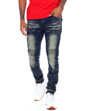 Jeans - Blasted Moto Jean W Cut and Sew Detail-2395753
