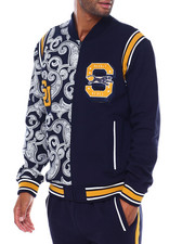 Sean John - Varsity Paisley Panther split Track Jacket-2395496