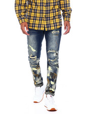 Mens-Fall - Paint splatter Jean -Tan-2395857