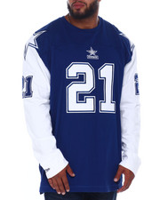Mitchell & Ness - Cowboys Sanders L/S Heavy Jersey (B&T)-2396773