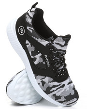 Footwear - Camo Lace-Up Sneakers-2396930