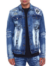 Mens-Fall - Space Ace Denim Jacket-2396468
