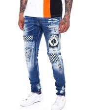 Jeans - Ace Patch w White paint splatter Jean-2396618