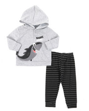 Arcade Styles - French Terry Top & Knit Pants Set (Infant)-2396257