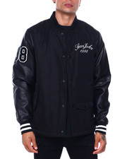 Mens-Fall - Noir Varsity Jacket-2396636