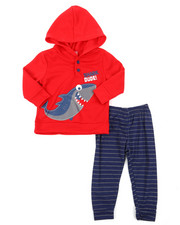Arcade Styles - French Terry Top & Knit Pants Set (Infant)-2396275