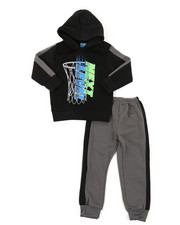 Arcade Styles - 2Pc Fleece Hoodie & Pants Set (2T-4T)-2396529