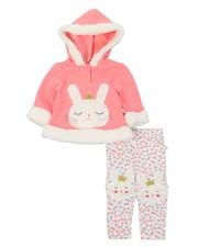 Duck Duck Goose - Fur Trimmed Hooded Fleece Set (Infant)-2396491