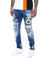 Copper Rivet - Ace Patch w White paint splatter Jean-2396618