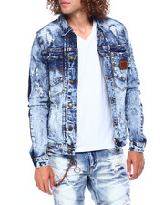 Mens-Fall - DISTRESSED DENIM JACKET-2397473